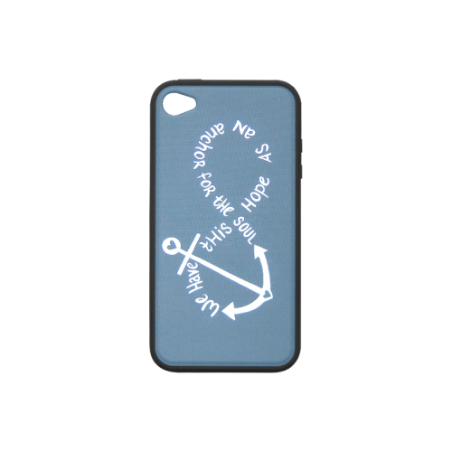 Anchor Quotes Rubber Case for iPhone 4/4s