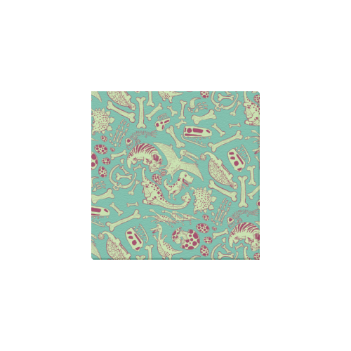 "Dinosaurs Pattern Canvas Print 6""x6"""