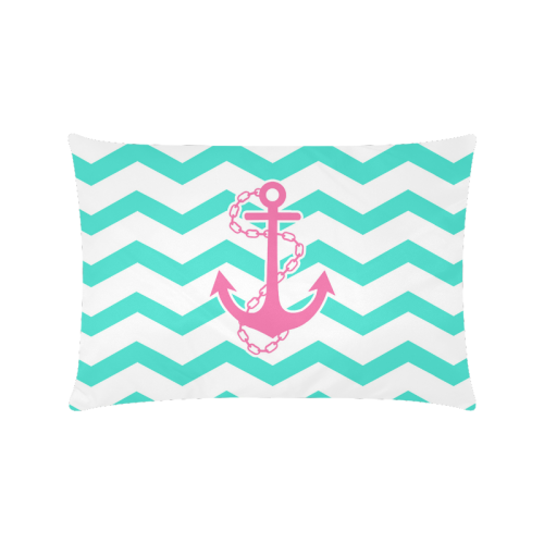 """Anchor Chevron Custom Zippered Pillow Cases 16""""x24""""(Twin Sides)"""
