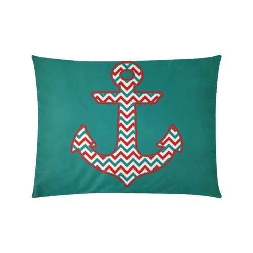 "Chevron Pattern Anchor Custom Zippered Pillow Cases 20""x26""(Twin Sides)"