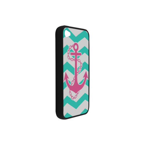 Anchor Chevron Rubber Case for iPhone 4/4s