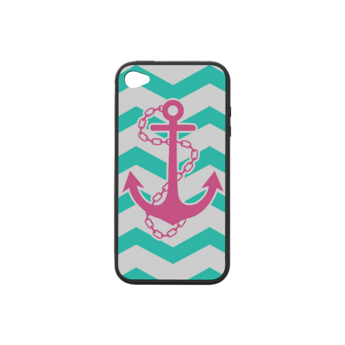 Anchor Chevron Rubber Case for iPhone 4/4s