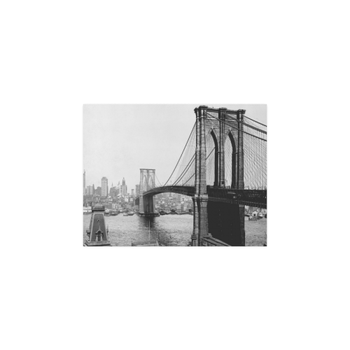 "Brooklyn Bridge Over East River and Surrounding Ar Poster 11""x8.5"""