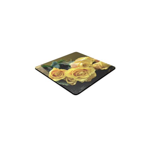 A Bunch Of Beautiful Yellow Roses Square Coaster