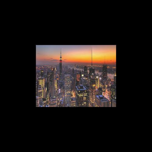 "New York City Night Poster 11""x8.5"""