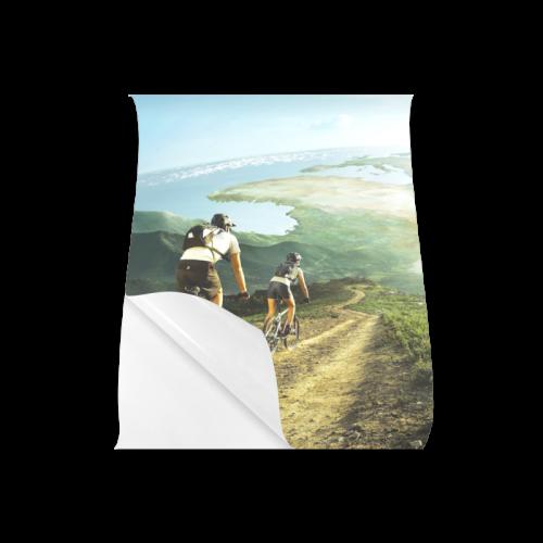 "Biking Downhill In Fantasty Word Poster 20""x24"""