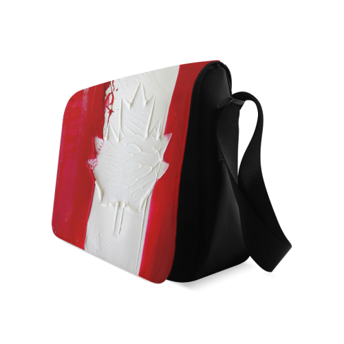 Abstract Canadian Flag Messenger Bag (Model 1628)