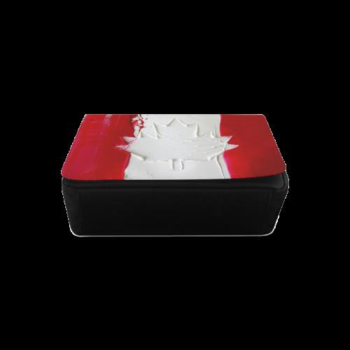 Abstract Canadian Flag Messenger Bag (Model 1628)