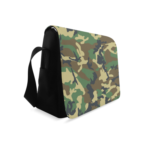 Dark Camouflage Messenger Bag (Model 1628)