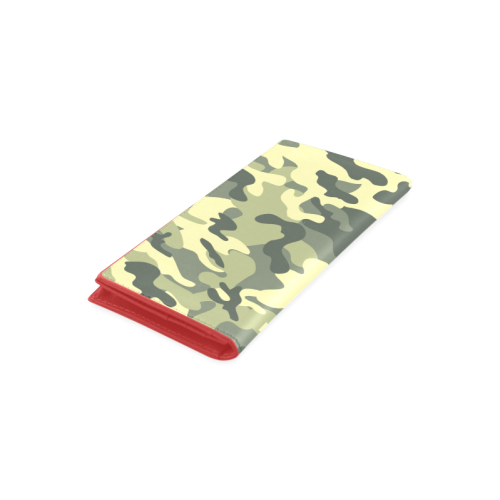 Camouflage Women's Leather Wallet (Model 1611)