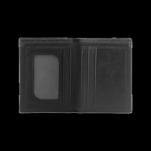 Dark Camouflage Men's Leather Wallet (Model 1612)