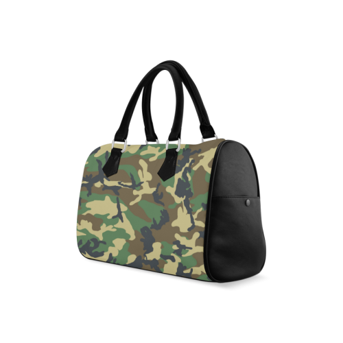 Dark Camouflage Boston Handbag (Model 1621)