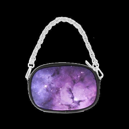 Purple Nebula And Galaxy Chain Purse (Model 1626)