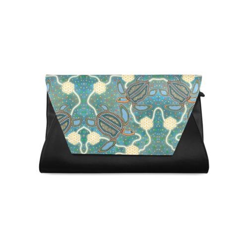 Aboriginal Art Turtle Clutch Bag (Model 1630)