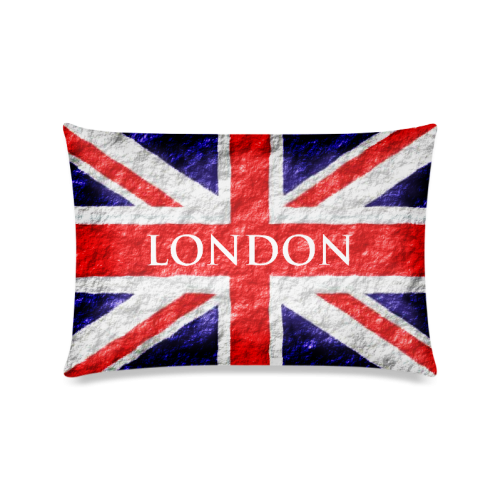 """Union Jack Flag Pillow Case Custom Zippered Pillow Cases 16""""x24""""(Twin Sides)"""