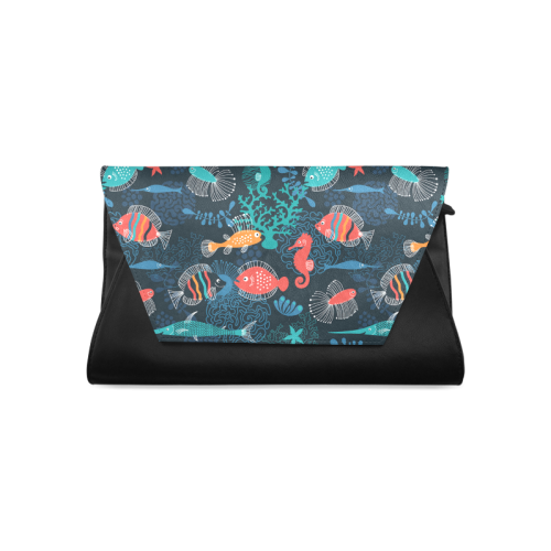 Sea Life Fish Cartoon Clutch Bag (Model 1630)