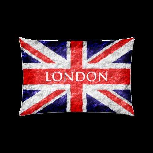 "Union Jack Flag Pillow Case Custom Zippered Pillow Case 16""x24""(Twin Sides)"
