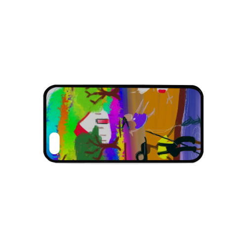 A day at the Fishing Hole by Nina Spencer Fine Fol Rubber Case for iPhone 5/5s