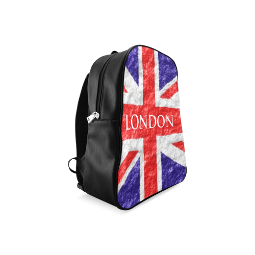 Union Jack Flag School Backpack/Large (Model 1601)