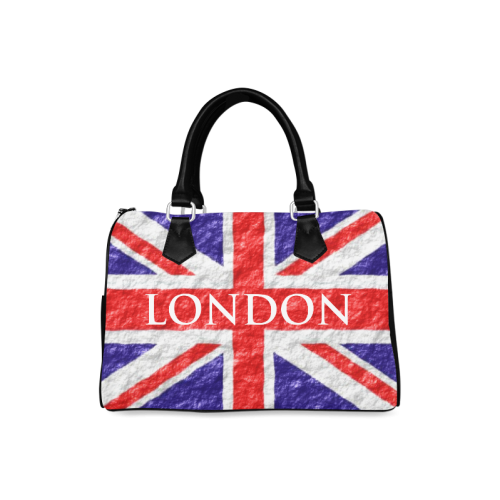Union Jack Flag Barrel Handbag Boston Handbag (Model 1621)