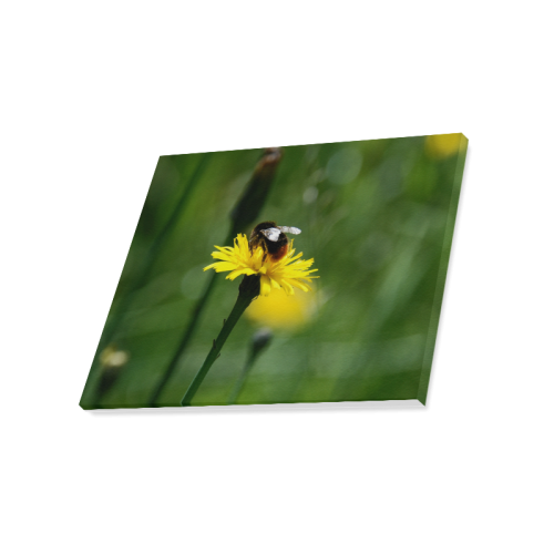 "Bee on Flower Canvas Print 20""x16"""