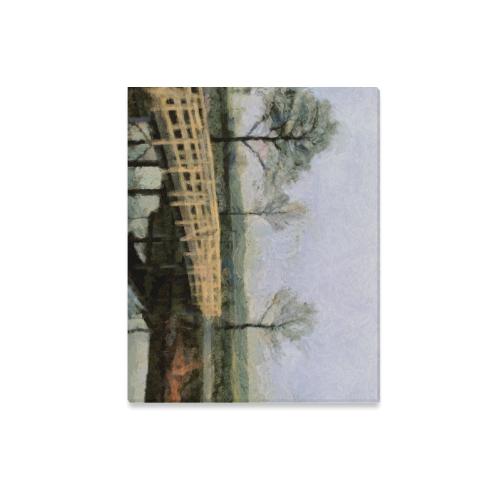 "Bridge in Drente by Humphrey Isselt (2) Canvas Print 20""x16"""