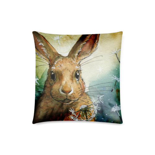 "Lovely And Famous Paintings of Rabbits Custom Zippered Pillow Case 18""x18""(Twin Sides)"