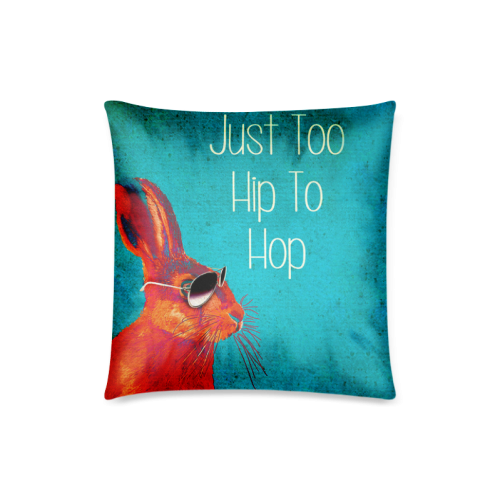 """Red Rabbit Cool Acrylic Paintings Custom Zippered Pillow Case 18""""x18""""(Twin Sides)"""