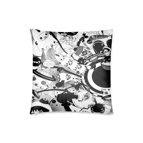 "Cool Design Music Illustration Custom Zippered Pillow Case 18""x18""(Twin Sides)"