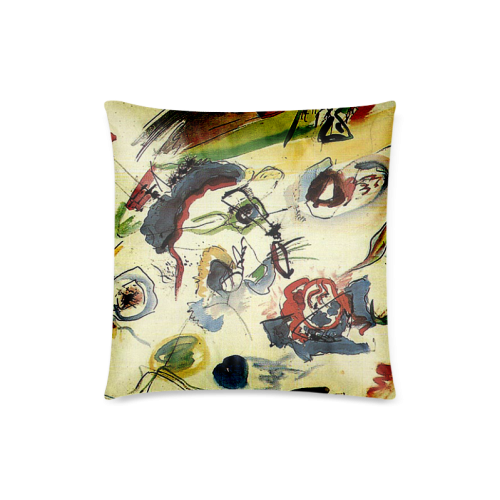 """Customized Kandinsky First Abstract Painting Custom Zippered Pillow Case 18""""x18""""(Twin Sides)"""