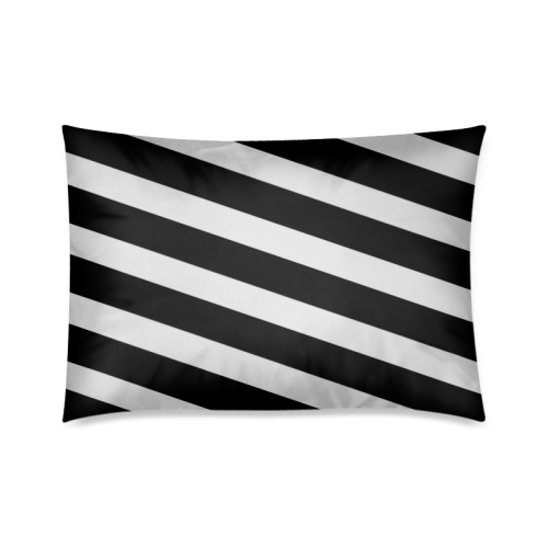"""Black And White Stripes Cool Design Custom Zippered Pillow Cases 20""""x30""""(Twin Sides)"""