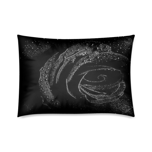 """Black Rose Custom Zippered Pillow Cases 20""""x30""""(Twin Sides)"""
