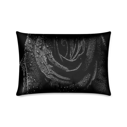 "Black Rose Custom Zippered Pillow Case 16""x24""(Twin Sides)"
