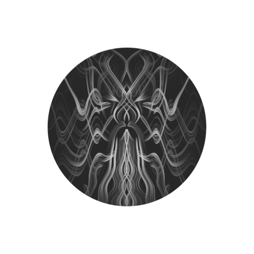 Tribal Cool Black And White Custom Stylish Round Mousepad