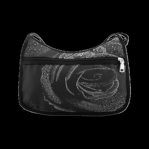 Black Rose Crossbody Bags (Model 1616)