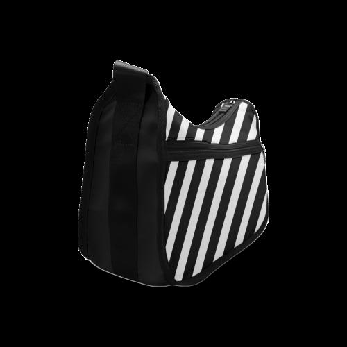 Black And White Stripes Cool Design Crossbody Bags (Model 1616)