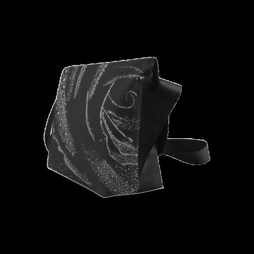 Black Rose Crossbody Bag/Large (Model 1631)