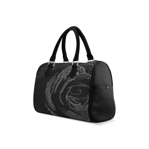 Black Rose Boston Handbag (Model 1621)