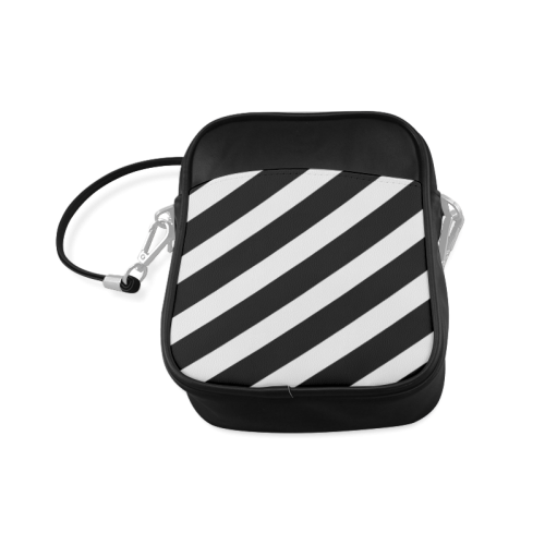 Black And White Stripes Cool Design Sling Bag (Model 1627)