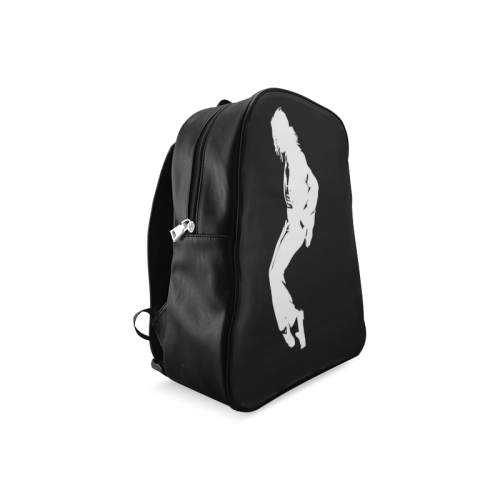 Super Star Michael Jackson Black And White School Backpack/Large (Model 1601)