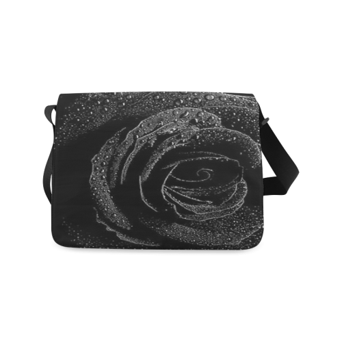 Black Rose Messenger Bag (Model 1628)