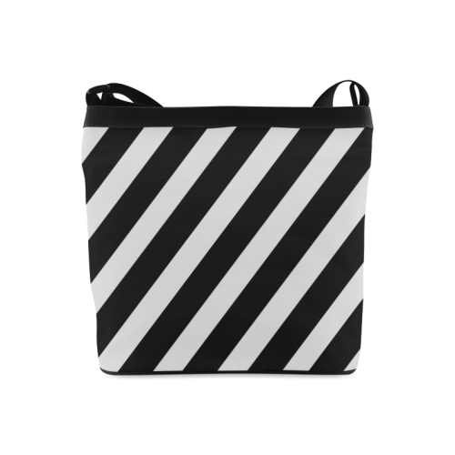 Black And White Stripes Cool Design Crossbody Bags (Model 1613)