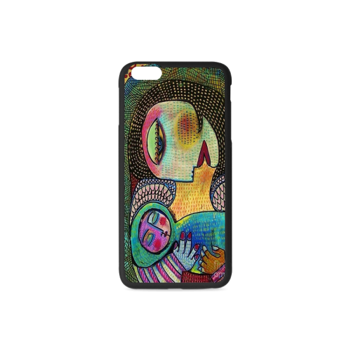 Angel Mother And Child Color Design Rubber Case for iPhone 6/6s Plus