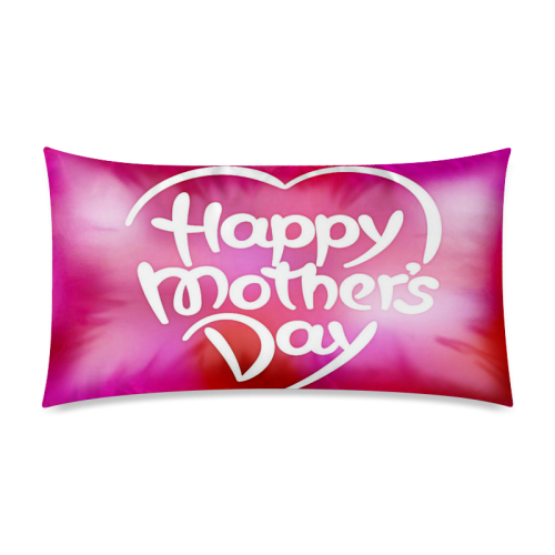 "Colorful Mothers Day Rectangle Pillow Case 20""x36""(Twin Sides)"