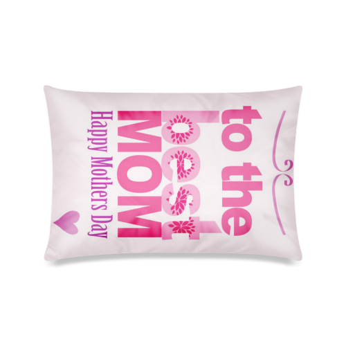 "Handmade Mothers Day And Birthday Card Custom Zippered Pillow Case 16""x24""(Twin Sides)"