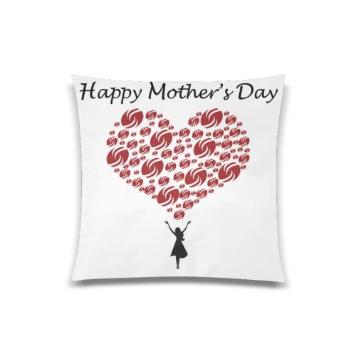 "Mothers Day LOVE Logo Custom Zippered Pillow Case 20""x20""(Twin Sides)"