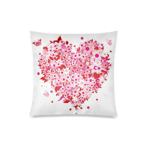 "clipart mothers day hearts Custom Zippered Pillow Case 20""x20""(Twin Sides)"