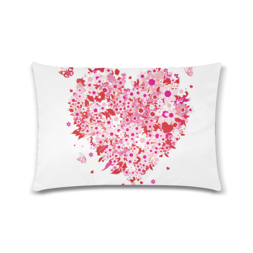"clipart mothers day hearts Custom Zippered Pillow Cases 16""x24""(Twin Sides)"
