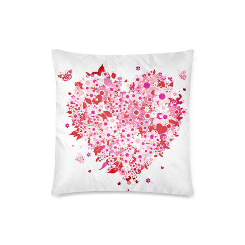 "clipart mothers day hearts Custom Zippered Pillow Case 18""x18""(Twin Sides)"