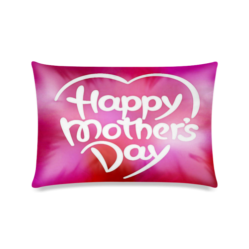 "Colorful Mothers Day Custom Zippered Pillow Case 16""x24""(Twin Sides)"